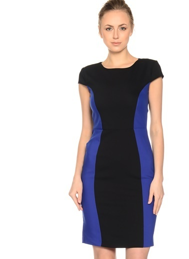 Limon Company Normal Kesim Arkadan Fermuarlı Kadın Elbise Siyah